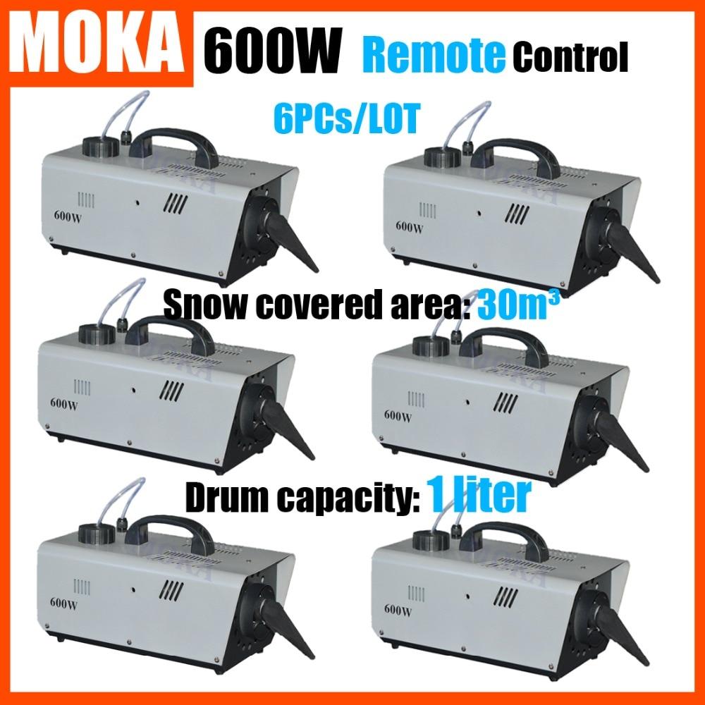 6 Pcs/lot 600W Snow Maker Snow Machine christmas projector Remote Control Snowflake Maker Stage Effect DJ machine