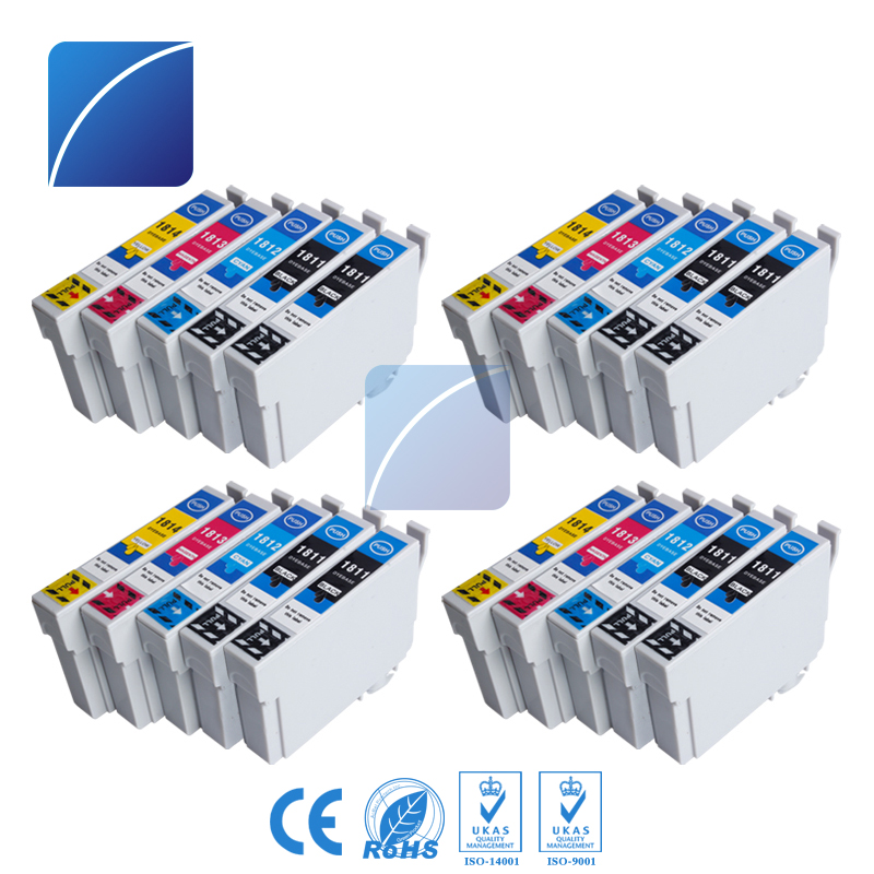20 pcs T1811 Ink Cartridge Compatible For Epson Expression Home XP XP-30/102/202/205/302/305/402 printer 10 compatible epson 33xl ink cartridge for expression premium xp 530 540 630 640 635 645 830 900 printer