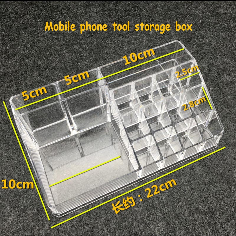 Wozniak Mobile Phone Repair Tool Plastic Storage Acrylic Box Cosmetic Screwdriver Storage Box