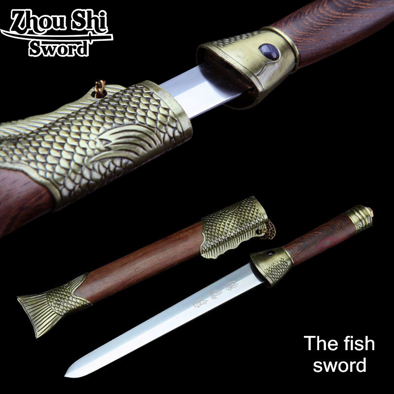 authentic chinese Antique sword The fish sword The top ten Sword Exquisite design Home Decorative Collectibles