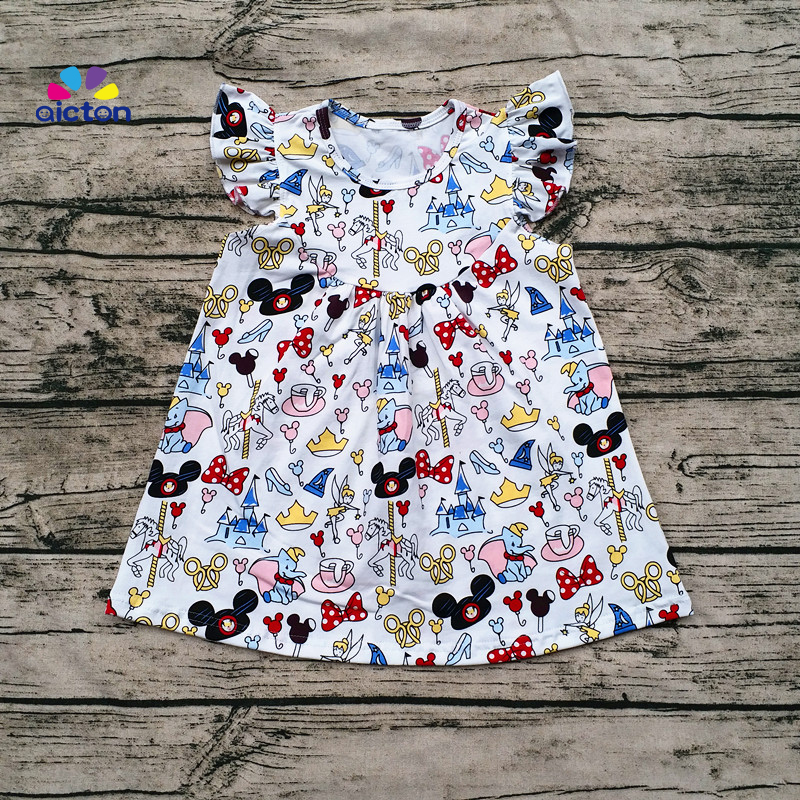 3ba4196854dc 2017 wholesale baby girl flutter mickey pearl top with icing shorts ...