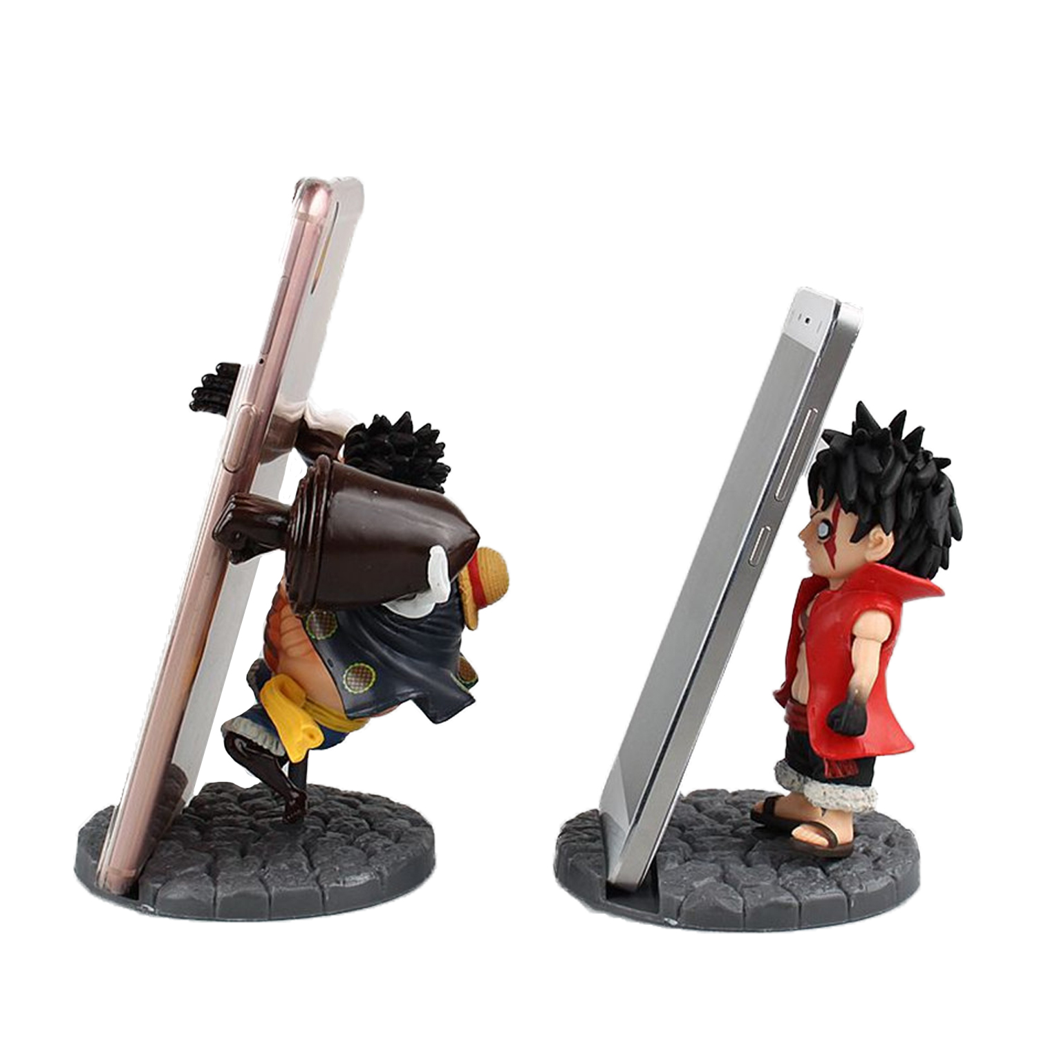 Chanycore Anime ONE PIECE Luffy Mobile phone stand 11cm cute Action Figures PVC onepiece toys doll model collection