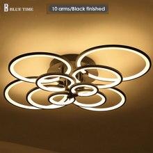 Лидер светодио дный продаж Современные светодиодные потолочные люстры белый/черный/золотой люстры для гостиная спальня обеденная светильники