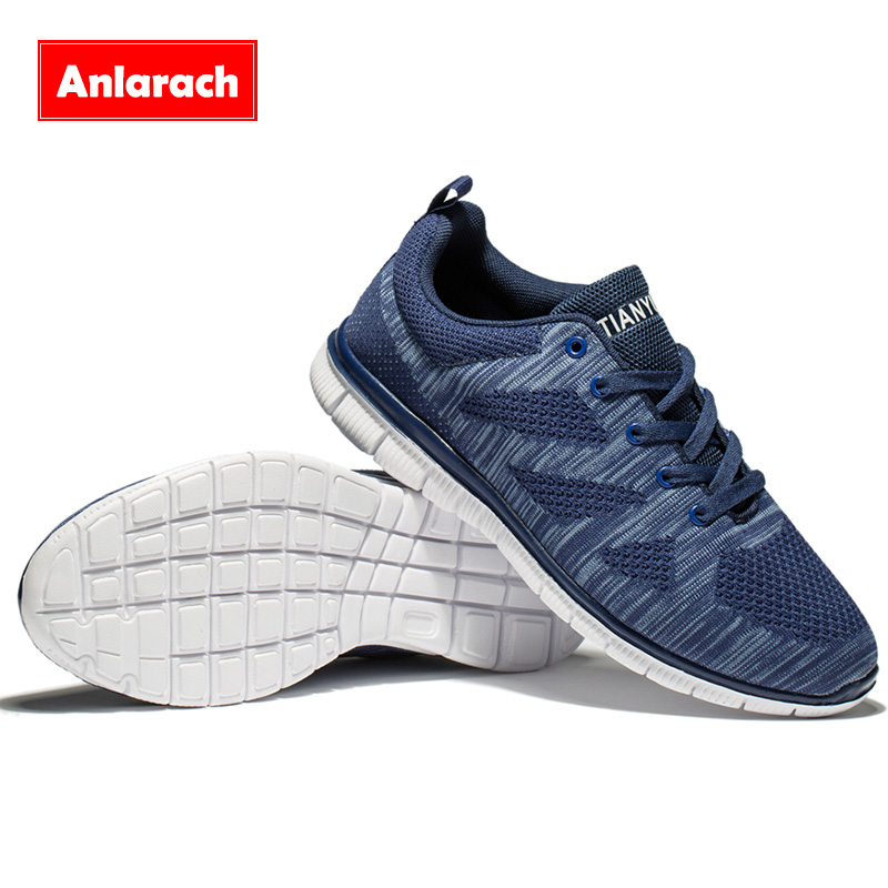 Anlarach Nuevo Llega Men Casual Shoes Lace Up Marca Super Light Transpirable Oci