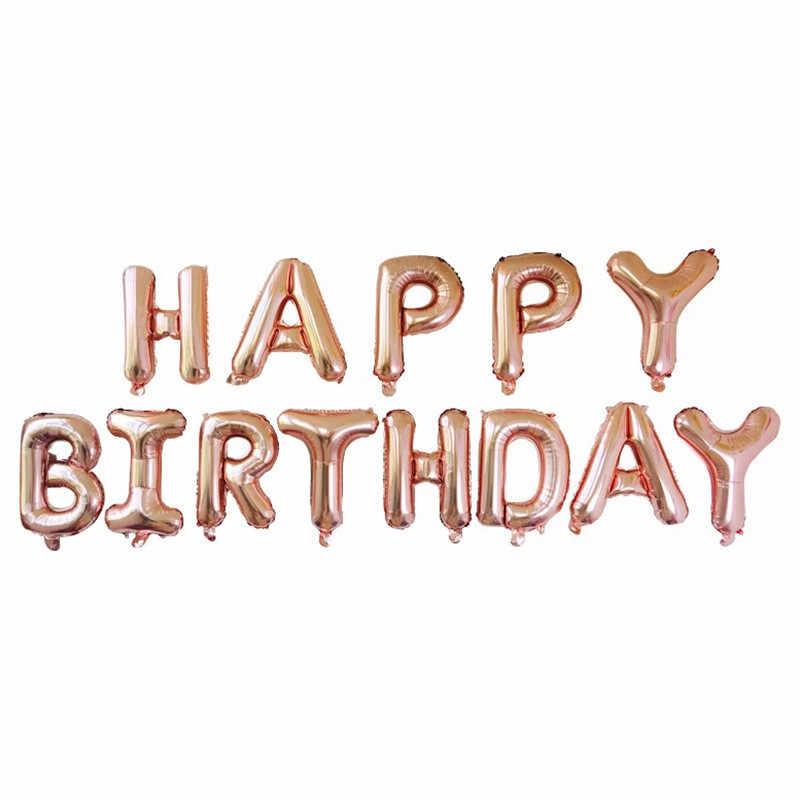 Rosa de ouro vermelho letra balões da folha de alumínio casamento bolas de hélio inflável bola de ar festa de aniversário decoração crianças celebração