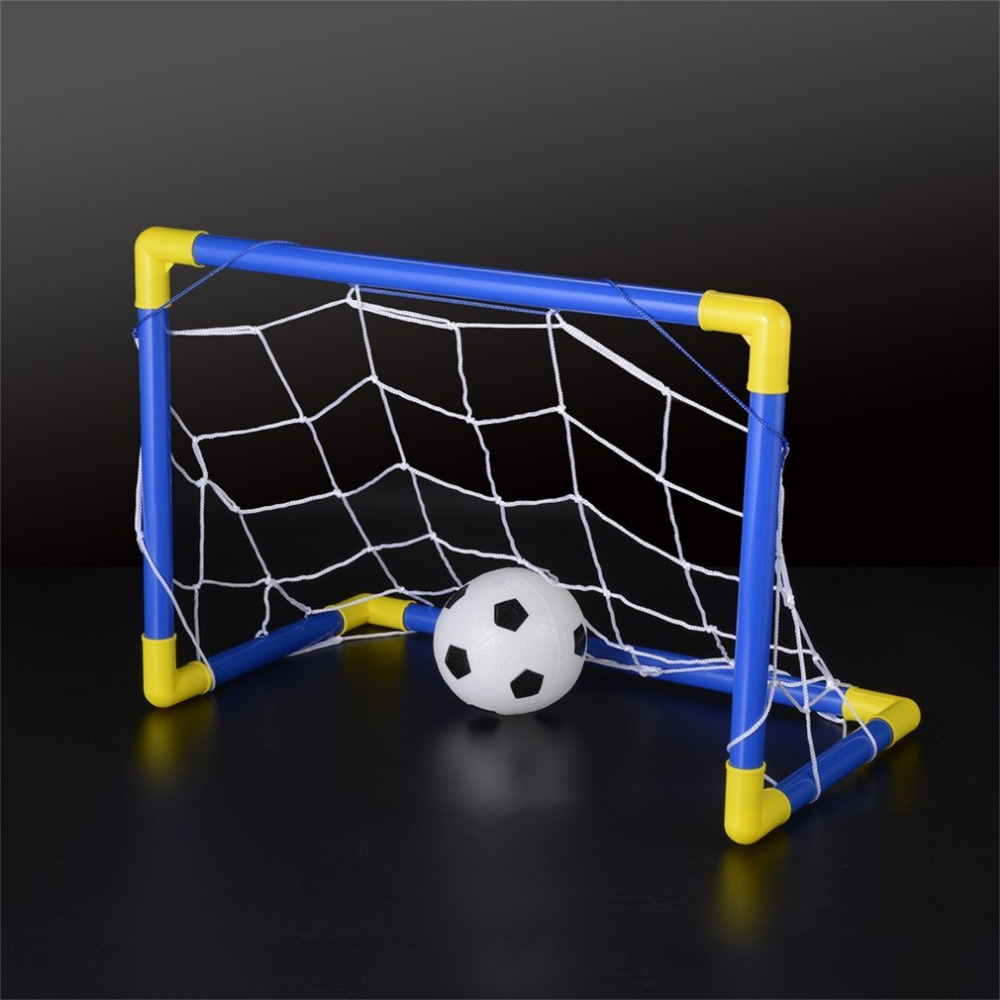 447mm Folding Mini Football Soccer Goal Post Net Set With Pump Kids Sport Indoor Outdoor Games Toys Child Birthday Gift Plastic