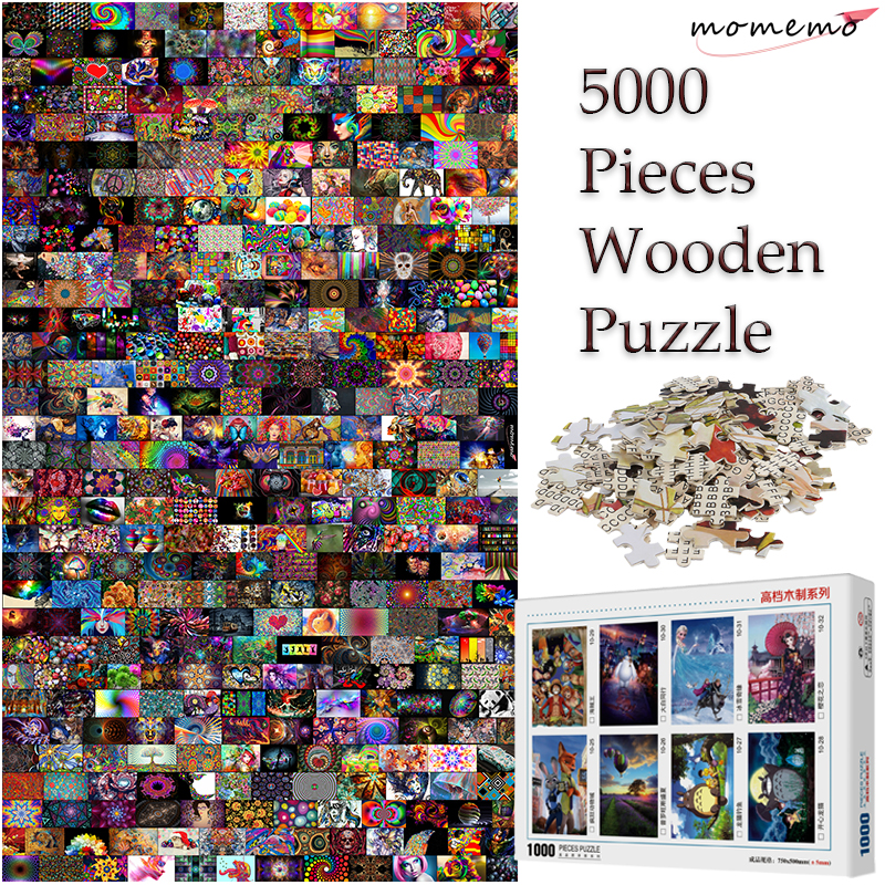 MOMEMO 5000 Pieces Wooden Jigsaw Puzzle Customized Toys