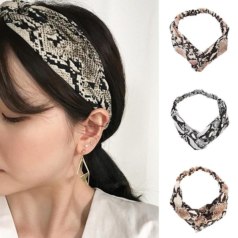 Back To Search Resultsjewelry & Accessories Fashion Women Occident Headbands Girls Snake Printed Hairband Ladys Cross Wild Hair Accessories Headwrap Bandage Psc7263 Hair Jewelry