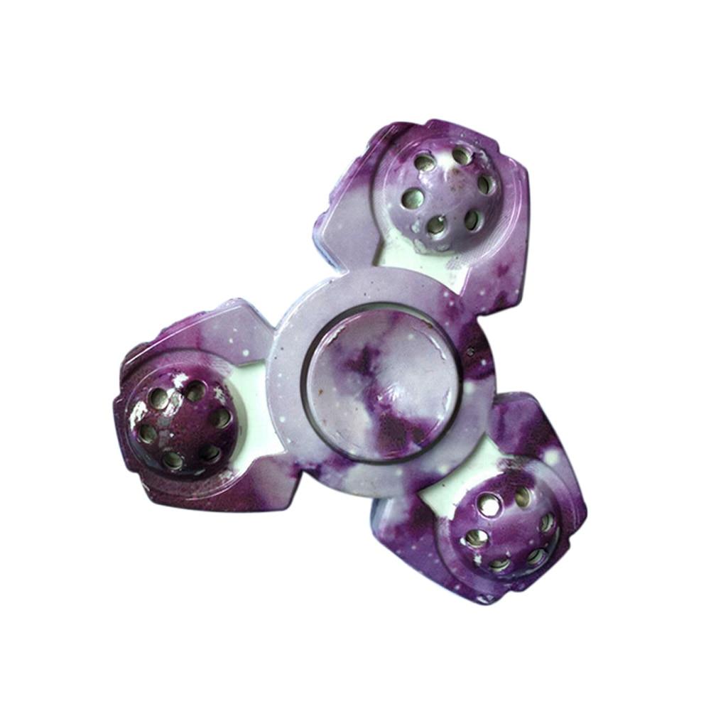 Tre-bladet Violet Color Fingertip Gyro Spinner Fidget Funny Toys
