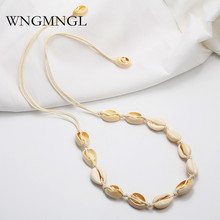 WNGMNGL 2018 New Handmade Female Summer Beach Necklaces Simple Elegant Statement Shell For Women Fashion Ear Jewelry