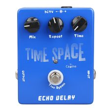 2017 High Quality Delay Guitar Pedals CP-17 Echo Delay True Bypass Blue 600ms Max for Musical Instrument Guitar Parts Accessoies