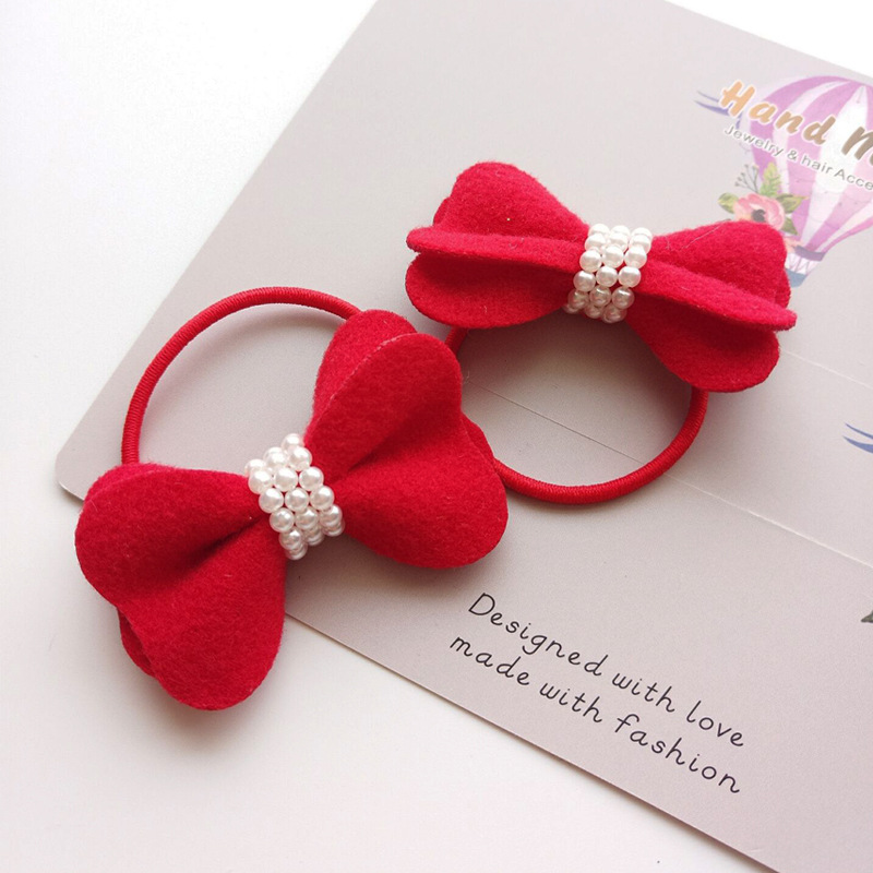 Apparel Accessories Girl's Accessories Korea Handmade Pearl Rubber Hair Band Hair Accessories Headwear Girls Headband For Women Hair Bows 5