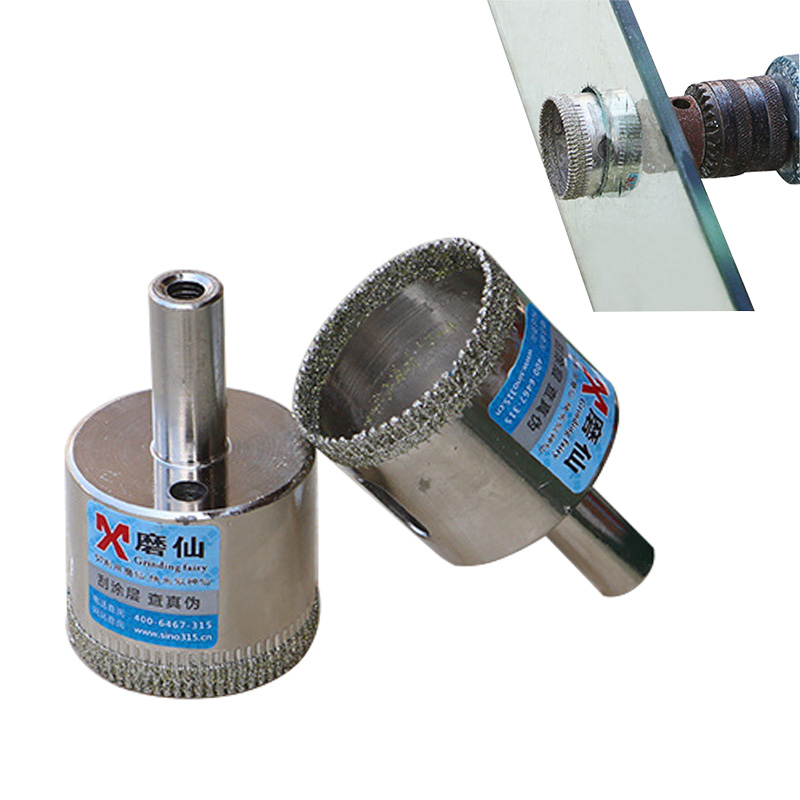 High Quality Diamond <font><b>Drill</b></font> <font><b>Bit</b></font> Tile Marble Glass Ceramic Hole Saw Drilling <font><b>Bits</b></font> for glass Diamond <font><b>Drills</b></font> For Power Tools durable image