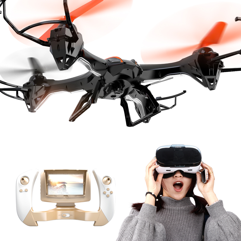 FAST-TRAK WIFI RC Quadcopter Drone with HD Camera, VR 3D View, FPV function, 2.4G 4CH 6 Axis Gyro Headless Mode For Beginners jjrc h11wh micro drone 4ch 6 axis gyro wifi fpv 3d flip set height quadcopter rc mini drone with 2 0mp hd camera headless mode
