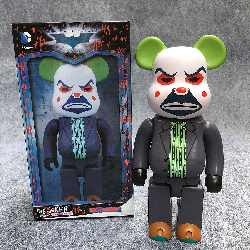 The Joker Bearbrick Action Figure 400% Bearbrick Cos The Joker Doll PVC figure Toy Brinquedos Anime 28CM