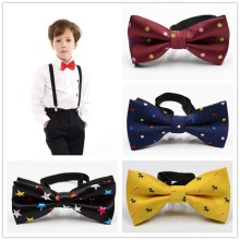 Школьная одежда для детей; Одежда для мальчиков; детская с бантом на свадьбу, клетка, горошек галстук-бабочка сатин галстук-бабочка для Свадебная вечеринка Регулируемый бант Te узел