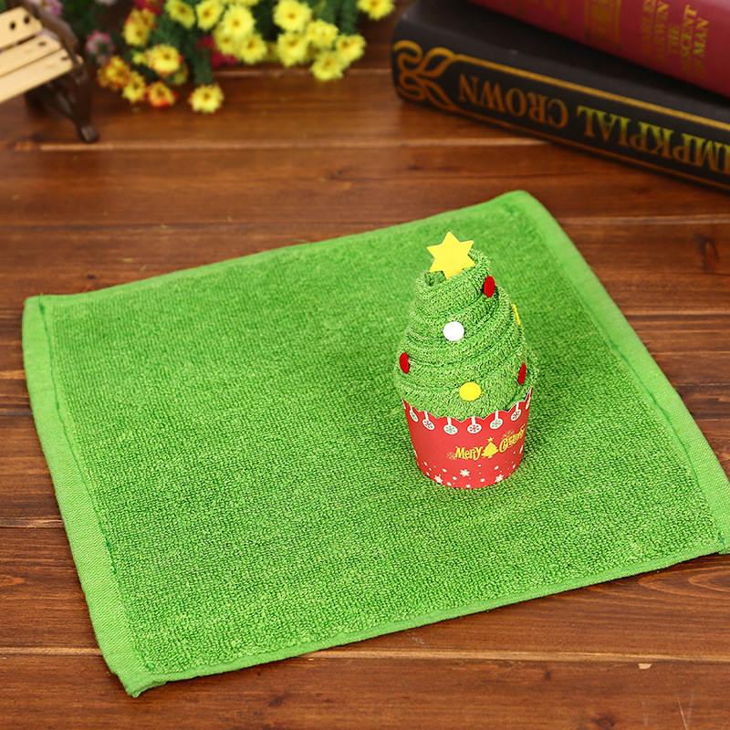 Kids Children Christmas Gift Cupcake Cotton Towel Decorations