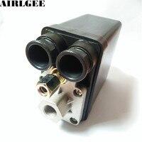 AC240V 20A 175PSI 12mm Female Thread 1 Port 2NC Air Compressor Pressure Switch