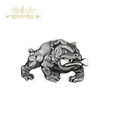 Wishonor 2017 Nice Dog Mens belt buckle High Quality Antique Silver Animal Belt Buckle For Belt Jeans accessories