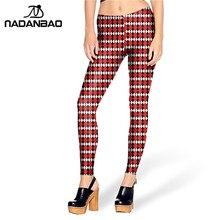 2016 New Arrival leggins White Red font b TARTAN b font leggins Printed Women Leggings KDK1461