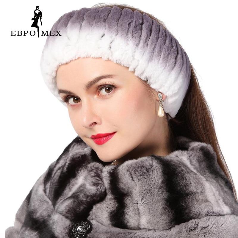все цены на  Winter women fur hat  knitted rex rabbit fur neckwear for women real fur head wrap ear warmer 2015 newest fashion hairband  онлайн