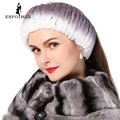 Winter women fur hat  knitted rex rabbit fur neckwear for women real fur head wrap ear warmer 2015 newest fashion hairband