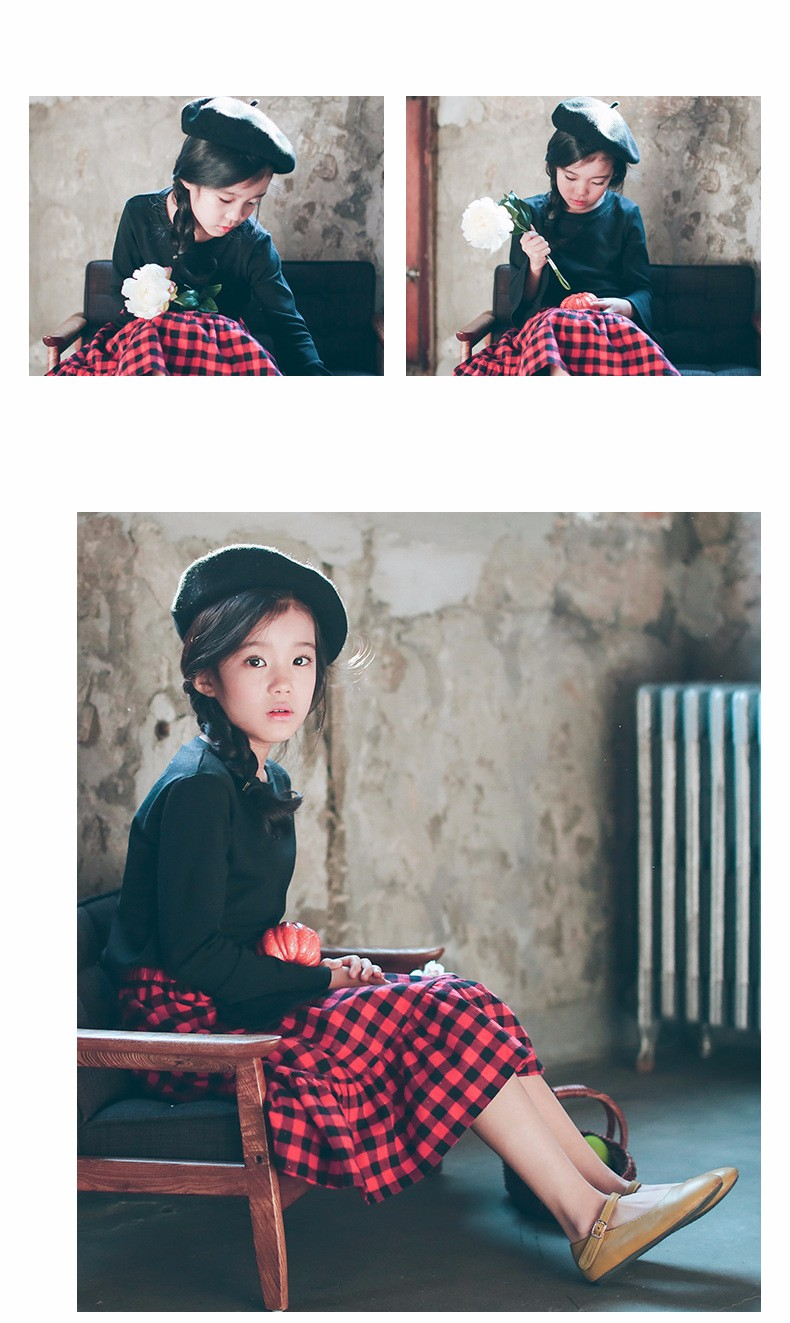 England style long skirts for baby teenage girls red plaid pleated skirt girl 2017 new spring autumn winter children clothing 5 6 7 8 9 10 11 12 13 14 15 16 years old little big teenage girls pleated skirts for kids (16)