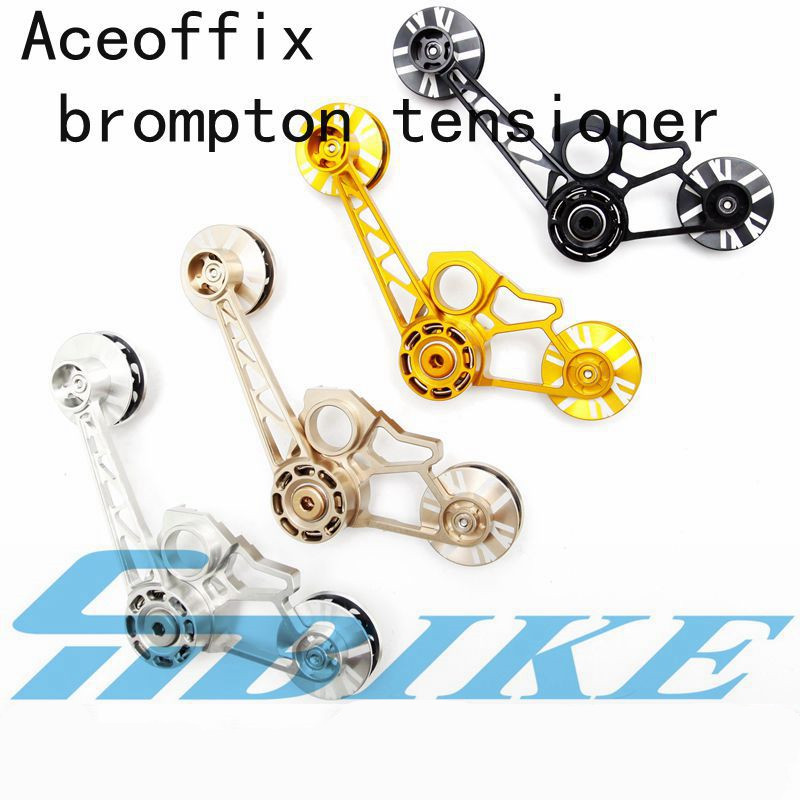 BMX chain tensioner for folding brompton bicycle guide wheel 4 colors 123g birdy chainer for 1