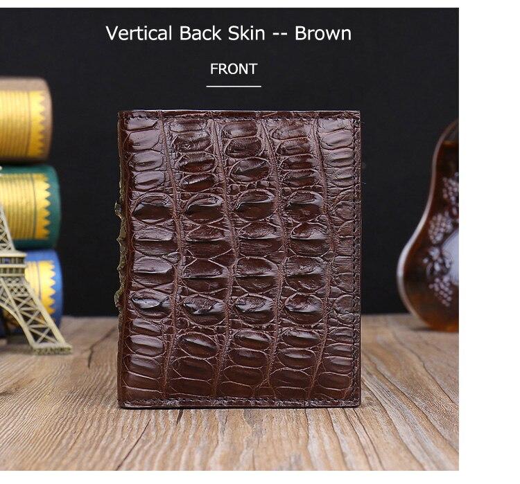 de luxo carteira de pele de jacaré