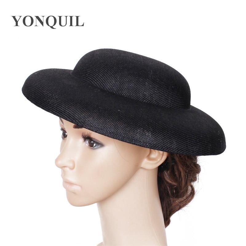 30cm round big hats Fascinator base in women s hair accessories imitation sinamay fascinator material wedding