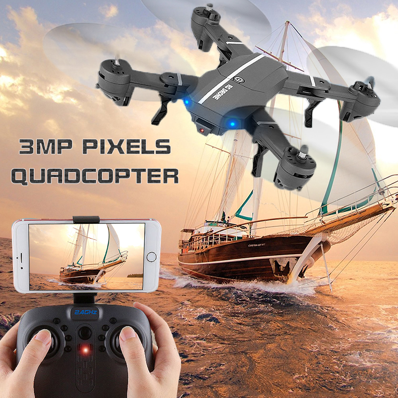 Mini Drone RC Quadcopter with camera 6-axis RC Helicopter Quadrocopter RC Drone One Key Return Dron Toys For Children hd plane wltoys q222 quadrocopter 2 4g 4ch 6 axis 3d headless mode aircraft drone radio control helicopter rc dron vs x5sw