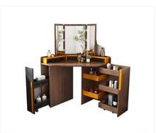 Small family corner dressing table bedroom modern simple storage makeup table.