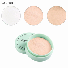 GUJHUI 3 Color Translucent Pressed Powder with Puff Smooth Face Makeup Foundation Waterproof Loose Skin Finish Setting Powder