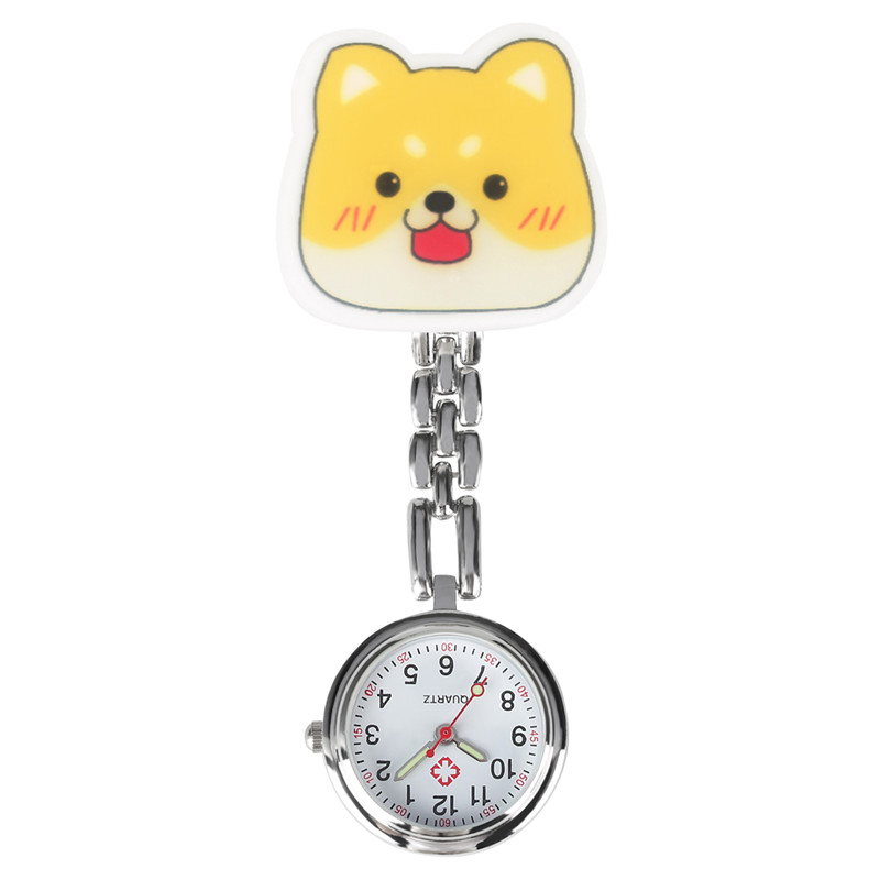 Cute Cartoon Dog Pattern Nurse Watch Women Quartz Pocket Watch Nurse Practical Luminous Function Pendant Calcetines Enfermera