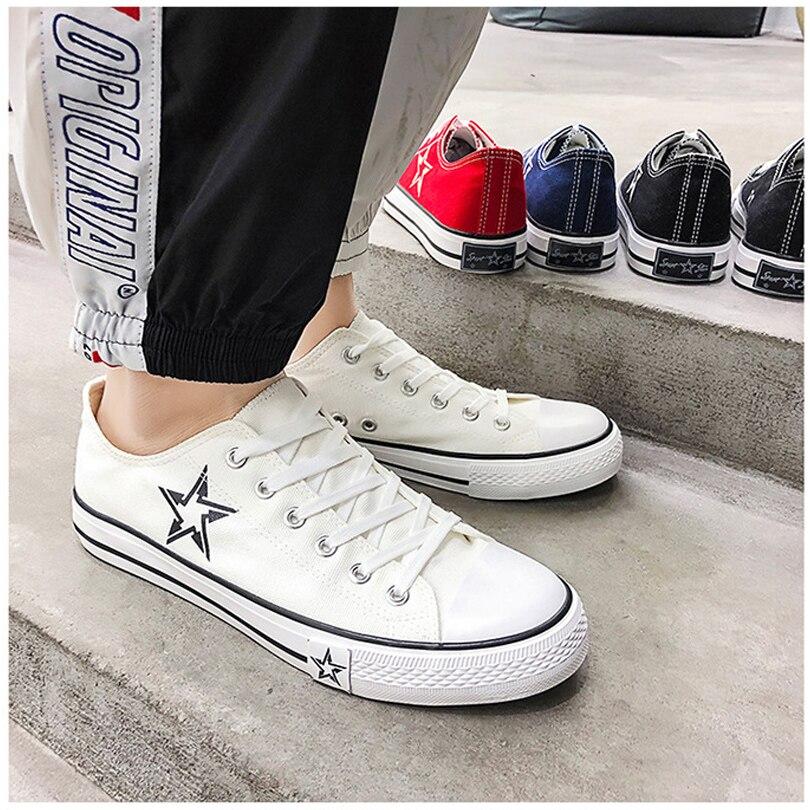 11937c65278a2 Black De negro Hombres Binhiiro white Jóvenes Vulcanizar Deporte Azul  Encaje Moda blue Blanco red Primavera Zapatos 2019 Impresión Otoño Zapatillas  Lona ...