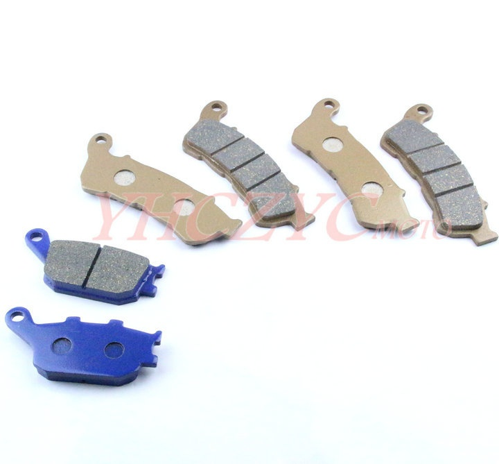 ФОТО For HONDA CBF500 2004-2007/CB600F Hornet 600(ABS) 2007-2012 motorcycle front and rear brake pads set