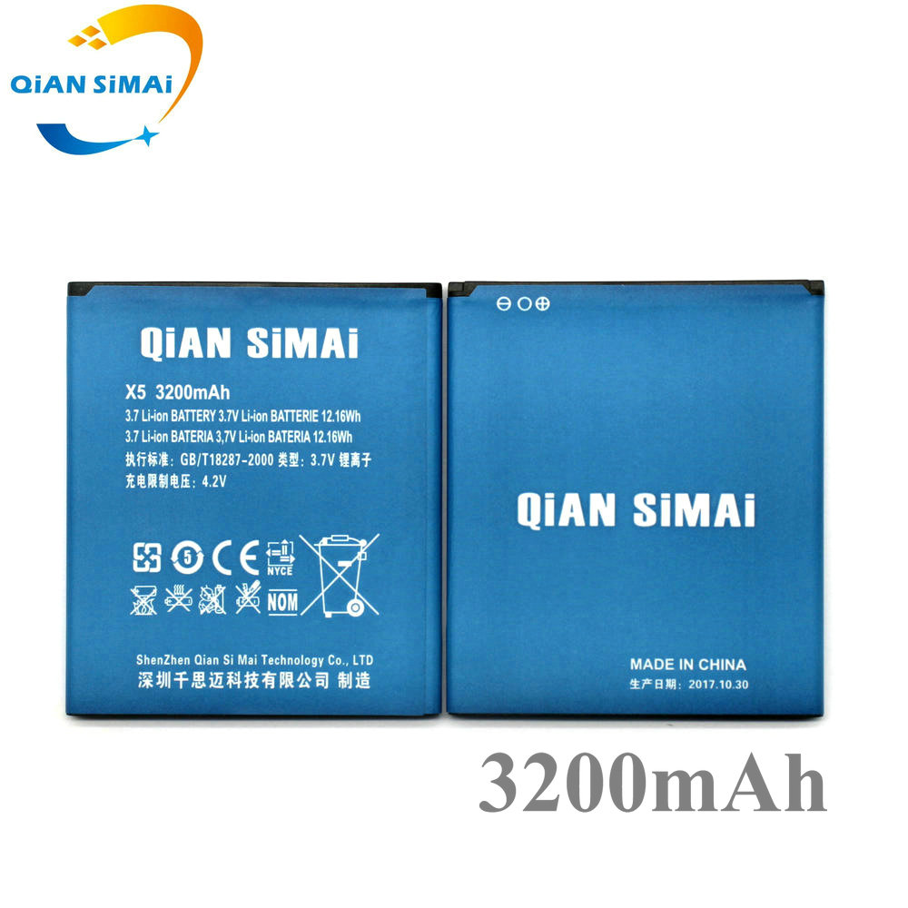 QiAN SiMAi 1PCS 2017 New DOOGEE X5 3200mAh Battery For DOOGEE X5 Pro Cell Phone IN Stock +track code