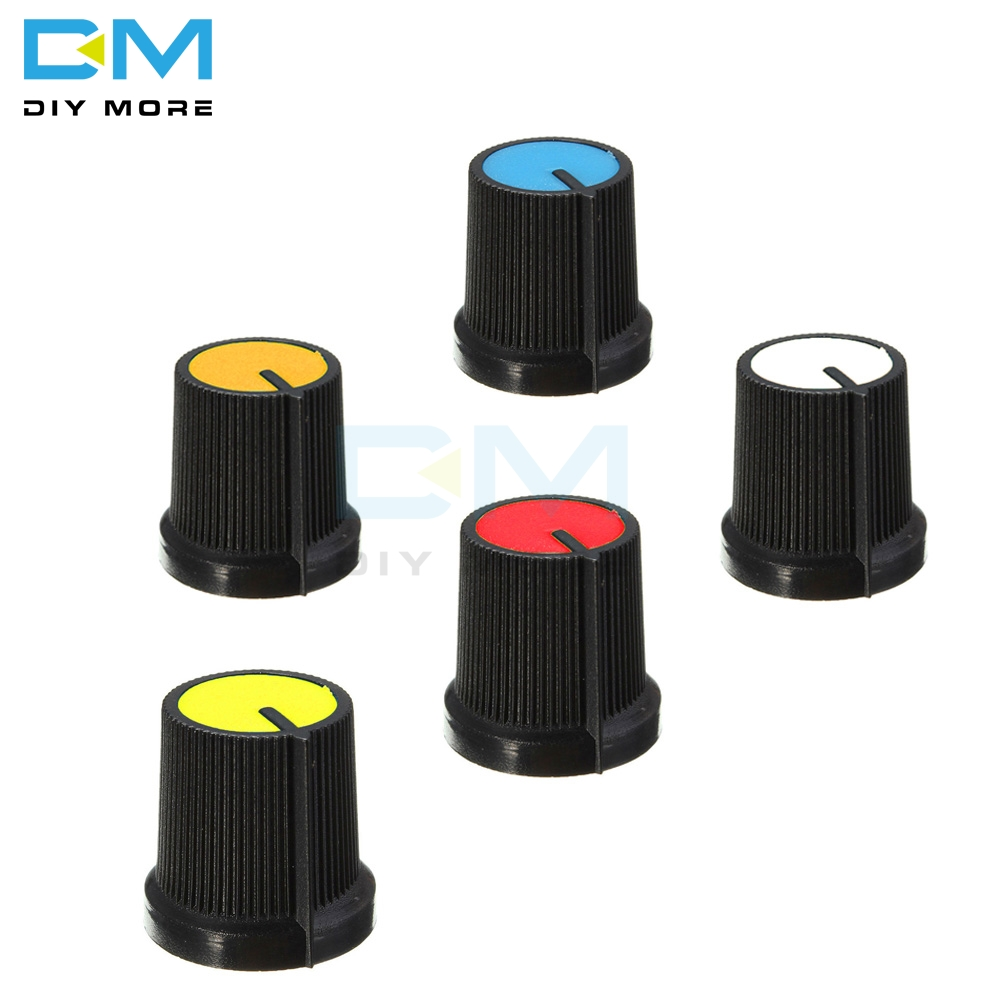 Electronic Components & Supplies Integrated Circuits 5pcs Black Knob Blue White Yellow Red Orange 5 Colors Face Plastic For Rotary Taper Wh148 Potentiometer Knob Hole 6mm New Cap Handsome Appearance
