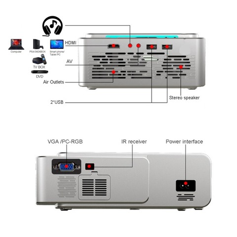 hdmi usb suporte 4k 1080p cinema casa proyector beamer