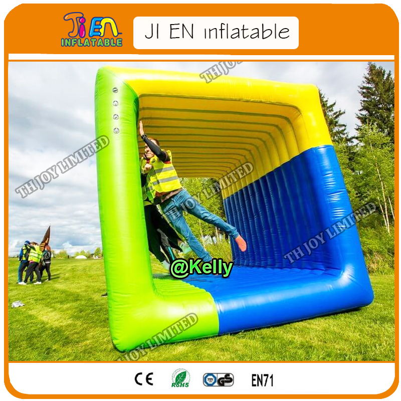 Free Door Shipping Team Building Flip It Game For Sale, Cube Flip It Inflatables Square Rolling Sport Games, Adults Sport Games