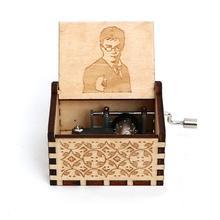 Старинная деревянная резная музыкальная шкатулка ручной коленчатый музыкальная шкатулка Выпускной подарок на день рождения Рождественский подарок шкатулка анонимичность украшения
