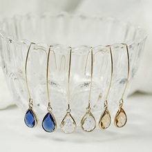 Modern Women Earrings 2018 Simple Imitation Crystal Pendant For Accessories Dangle Jewelry Gift