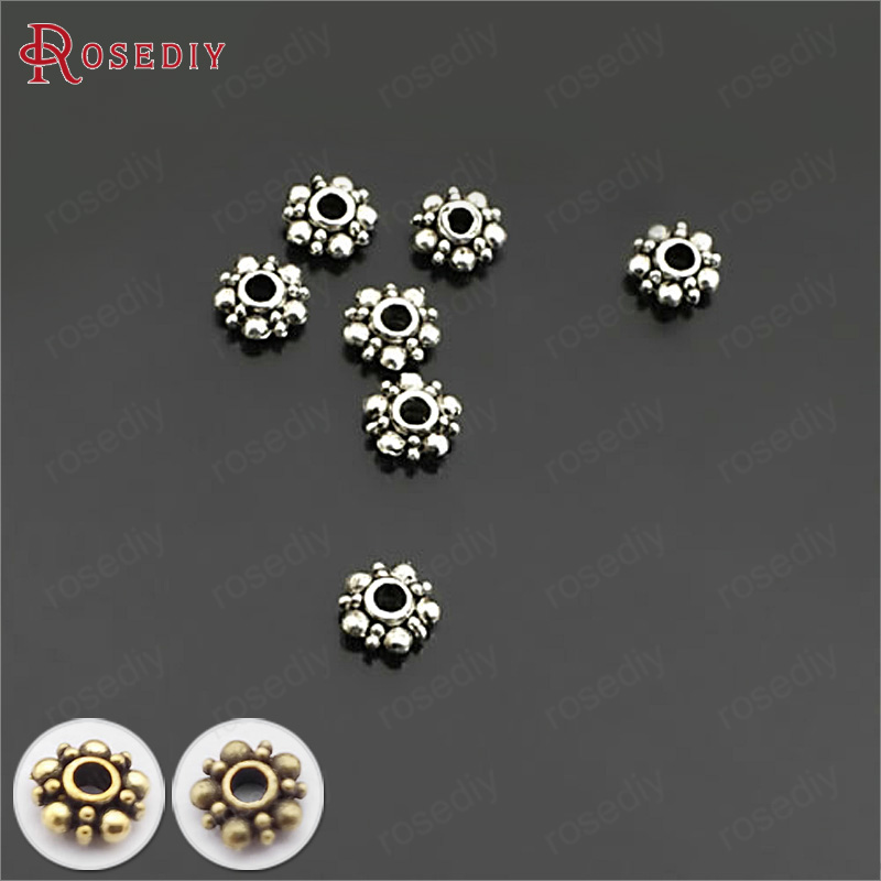 Findings DIY  Jewelry  Metal Antique 50pcs Loose Spacer Beads Accessories