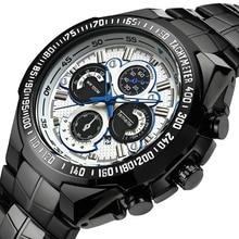 цены Luxury Brand Men Watches Stainless Steel Strap Luminous Hands Calendar 30M Waterproof Men's Wristwatch Fashion Male Quartz Watch