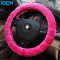 High Quality Soft Warm Wool Plush Winter Car Steering Wheel Cover Universal steering-wheel Car styling Accessories for bmw audi