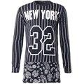 Хип-Хоп Майка Мужчин 2016 Бренд Хлопка С Длинным Рукавом бейсбол Футболки Мужчин Случайные Свободные Футболка Homme Печати Camisetas Hombre
