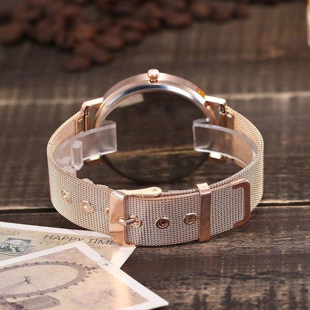 2019 women watches bracelet watch ladies vansvar Casual Quartz Stainless Steel Band Marble Strap Watch Analog relogio feminino