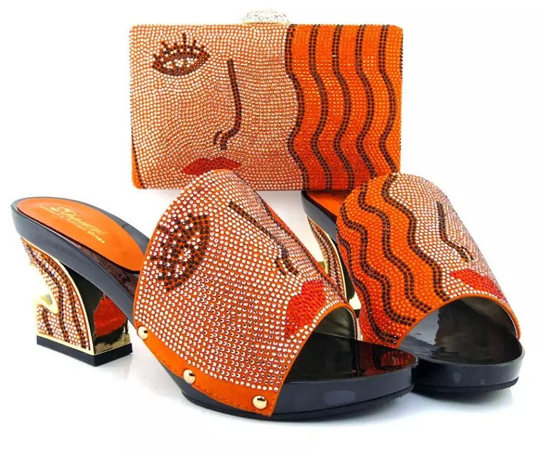 ФОТО Nice-looking Italian matching shoe and bag sets for party / wedding, African women shoes and bag set MQQ1-17