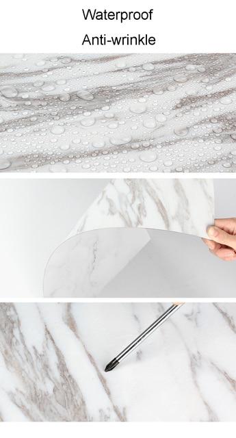 60X90cm PVC doppi lati fondali fotografia impermeabile Premium marmo Texture sfondo per foto cibo gioielli Mini articoli 5