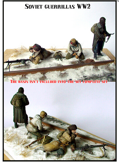 Resin Kits 1 35 WW II The Soviet Red Army Guerrillas Free Shipping